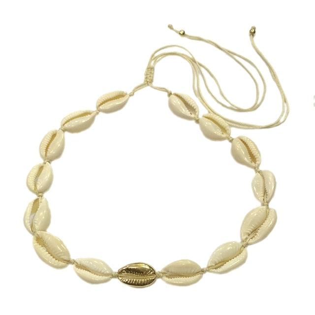 Natural Shell Choker Set