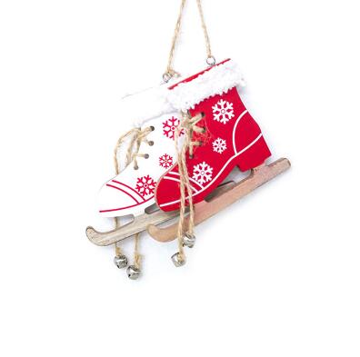 Snowflake Wooden Boots Christmas Decoration