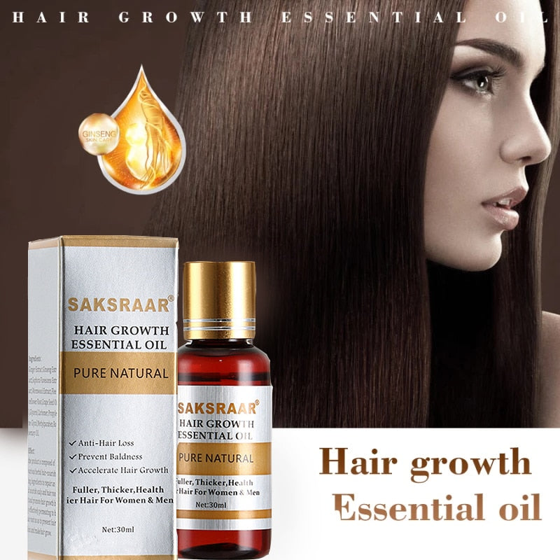 Essential Oils Serum for Hair Care and Hair Growth