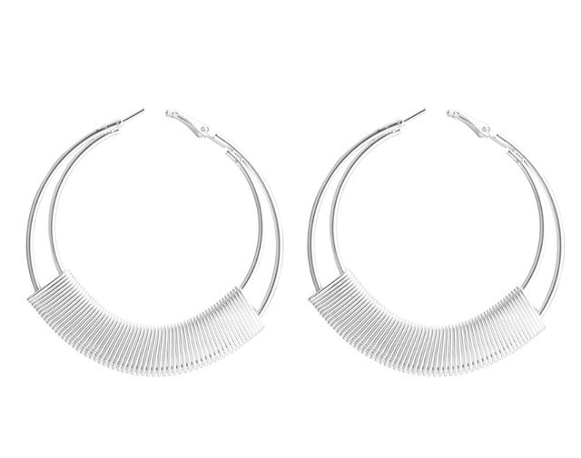 Big Round Circle Earrings