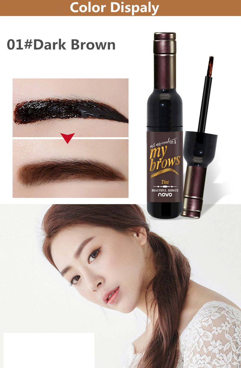 Red Wine Eyebrow Long-lasting Waterproof Gel