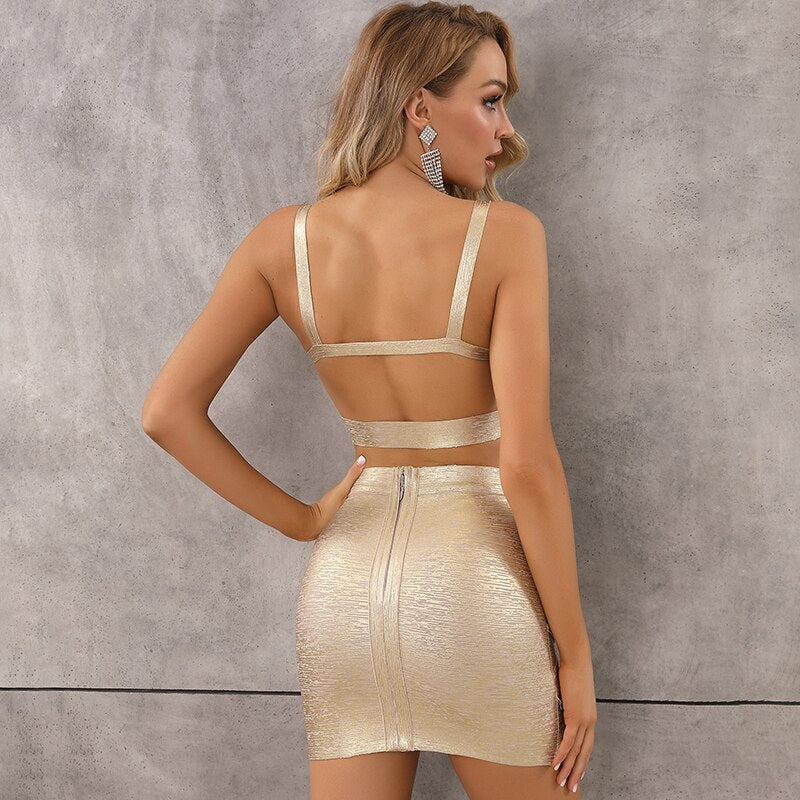 Gold Two Piece Dress