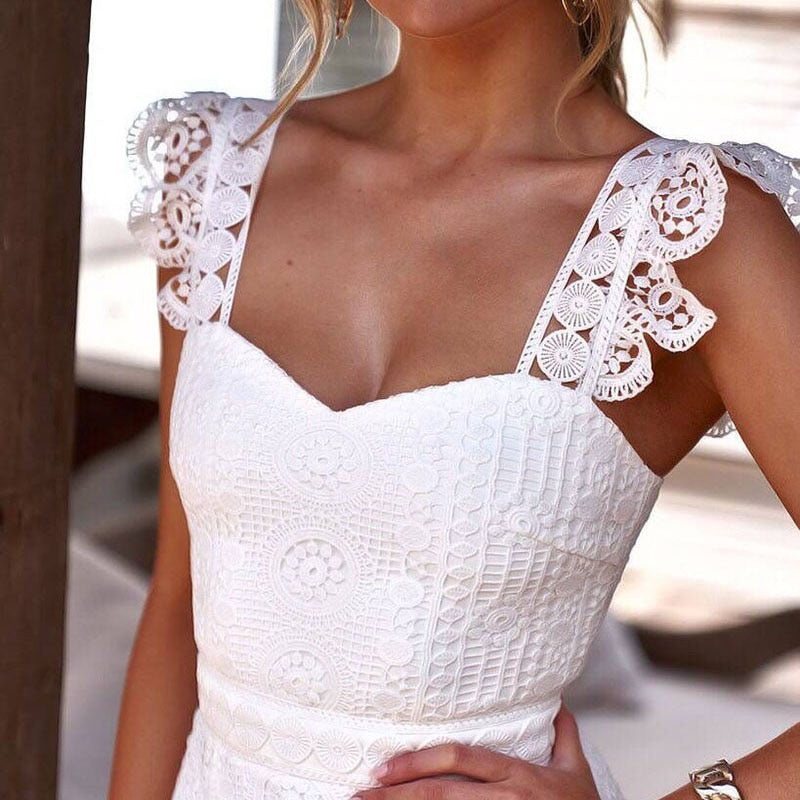 2020 White Lace Party Dress