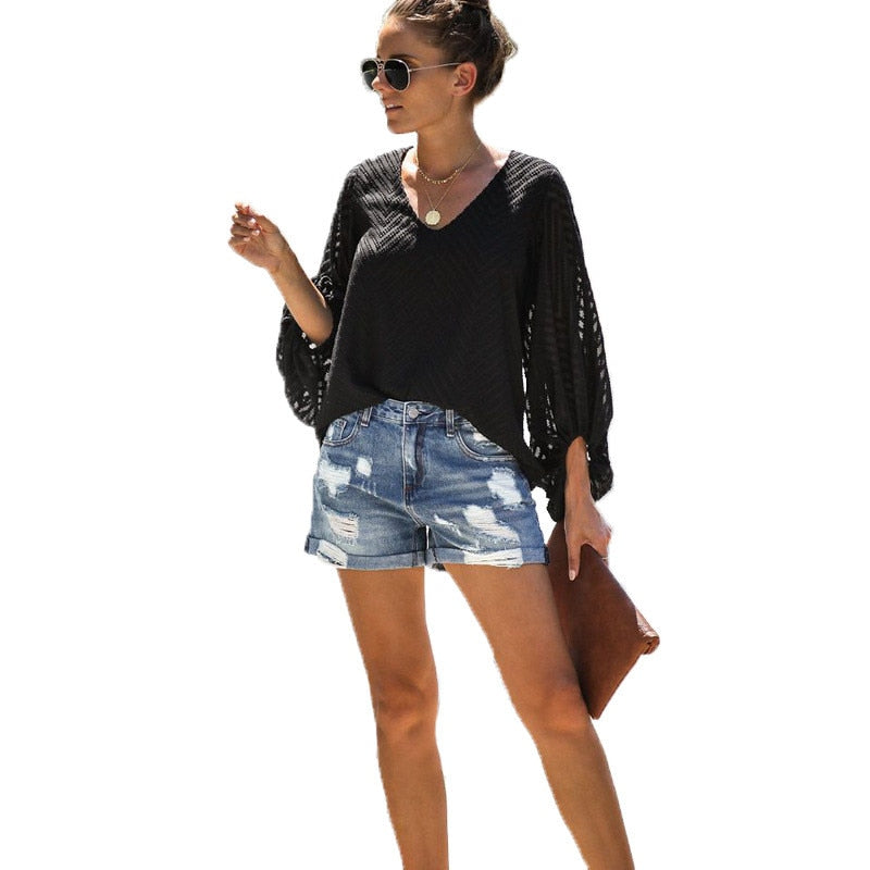 2020 Casual Summer Women Denim Short