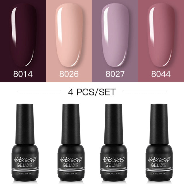 NAILWIND Gel Nail Polish 4PCS/Set