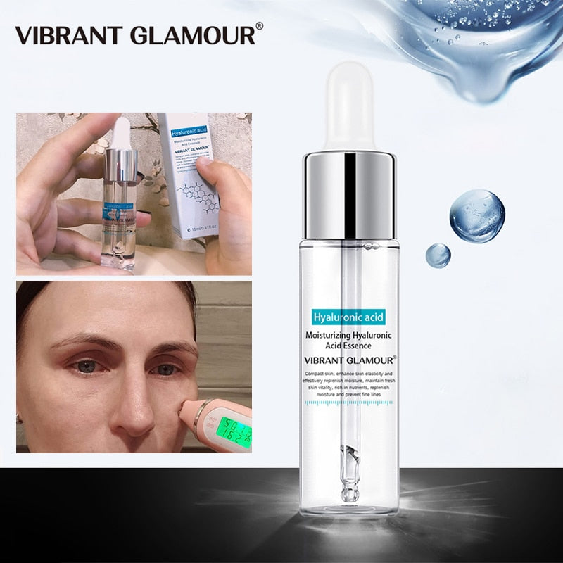 Hyaluronic Acid VIBRANT GLAMOUR Face Serum repair damaged skin, moisturize skin, reduce pores, make skin soft and smooth.