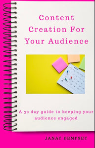 Content Creation for Your Audience e-book