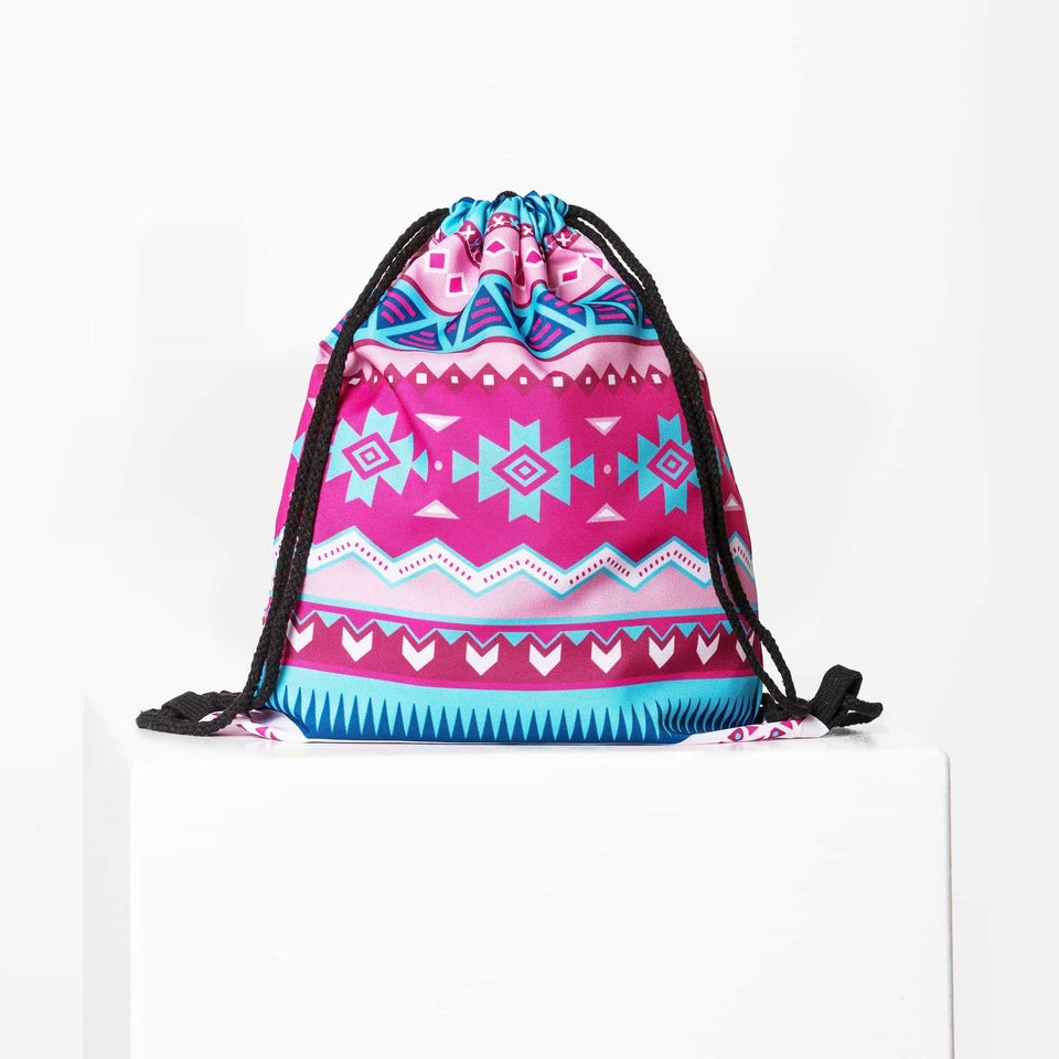 Aztec Pink Türkis Gym Bag