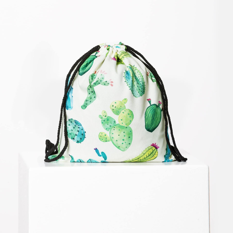Green Cactus Gym Bag
