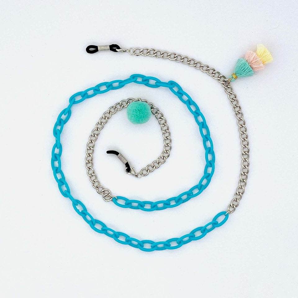 Brillenkette Beach Party Blue