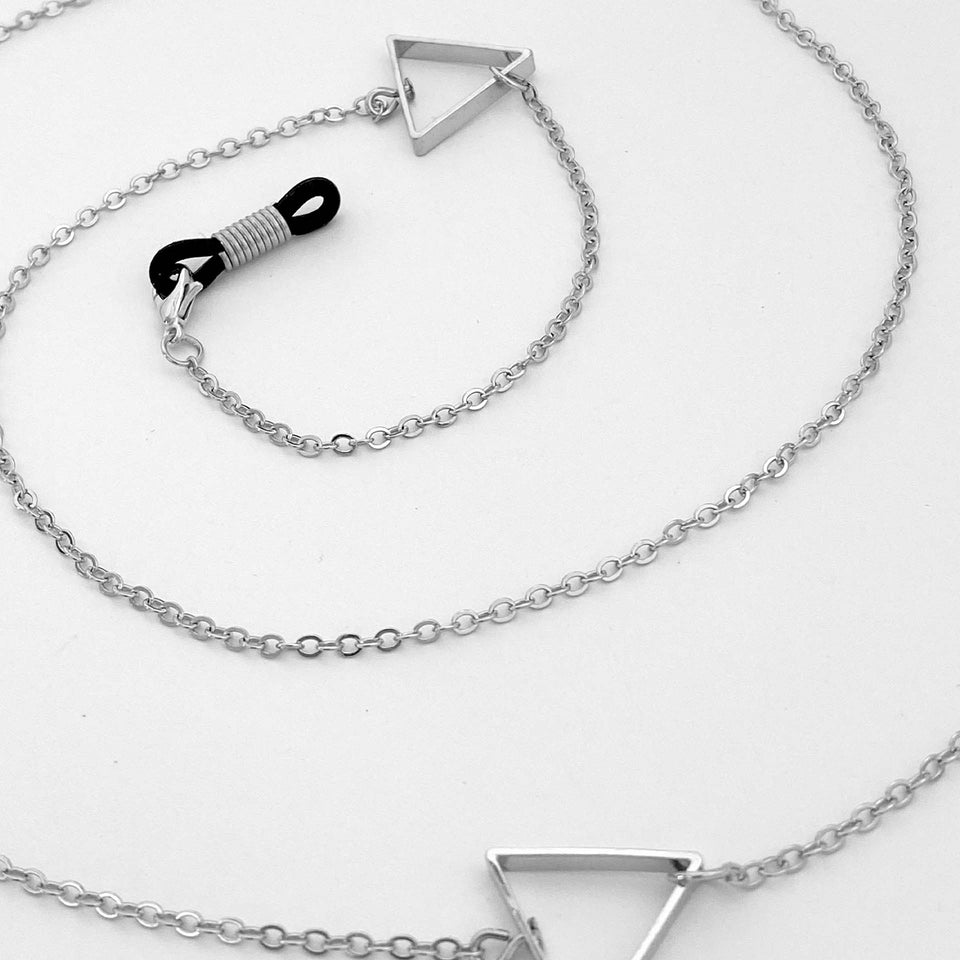 Brillenkette Silver Triangles