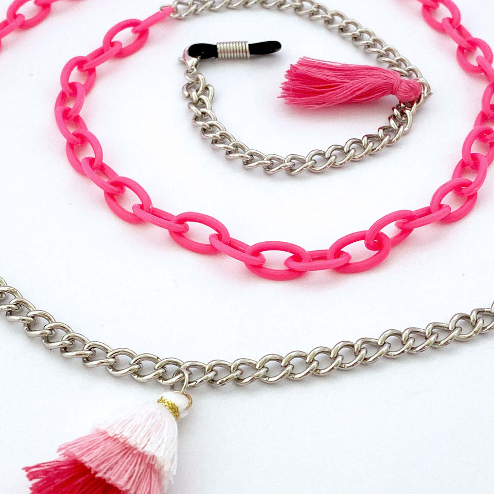 Brillenkette Beach Party Pink