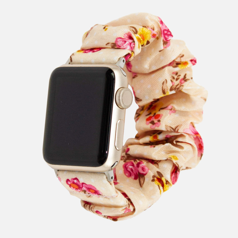 Scrunchie-Uhrenarmband für Apple Watch, Roses