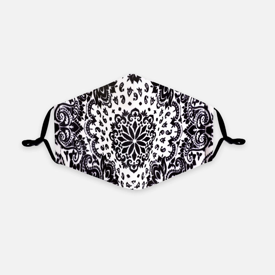 Community-Maske BANDANA BLACK AND WHITE