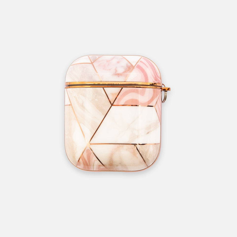 Apple Airpods Hülle Gold Marmor Rosa