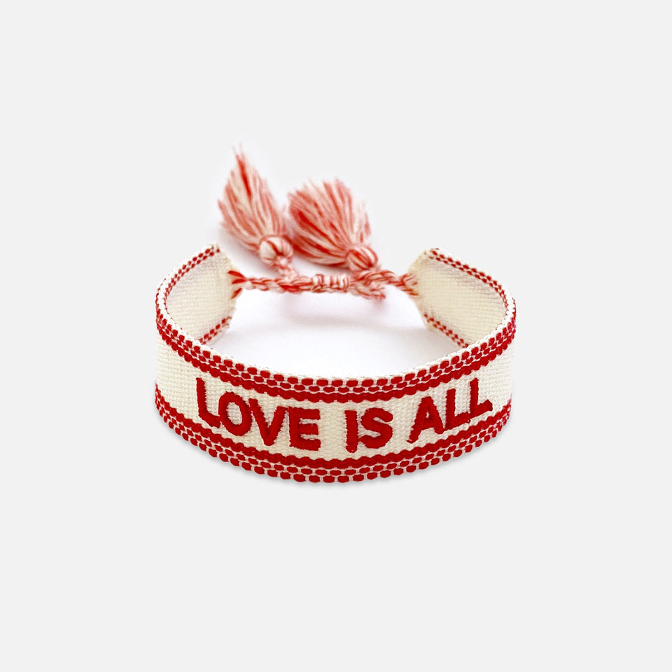 Webarmband Love is All