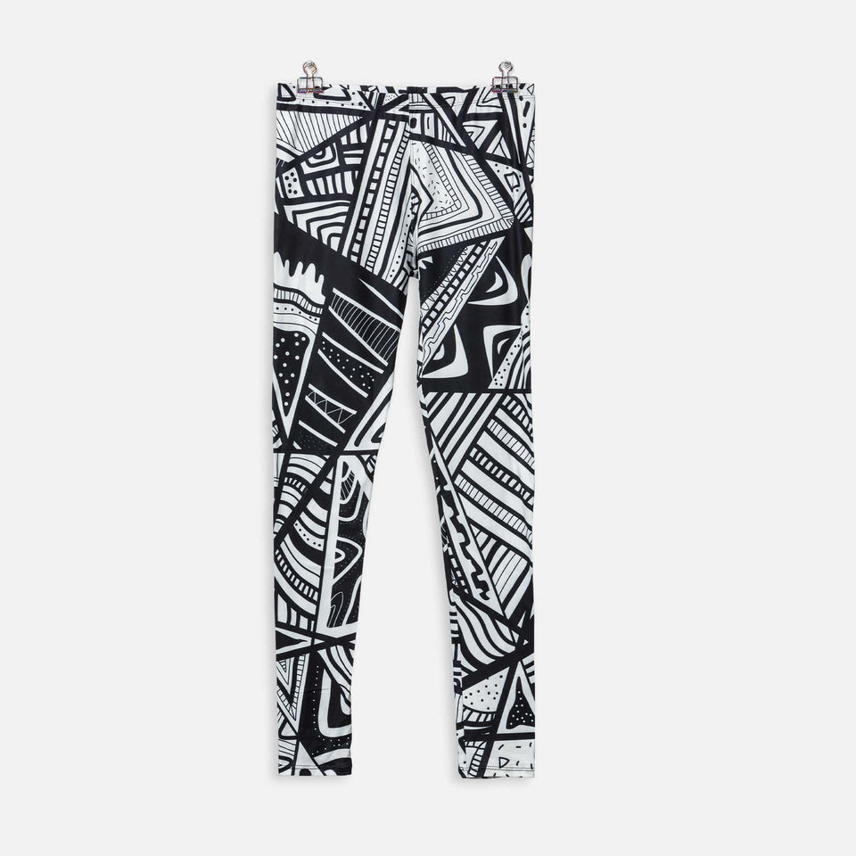 Legging Tribal Black & White