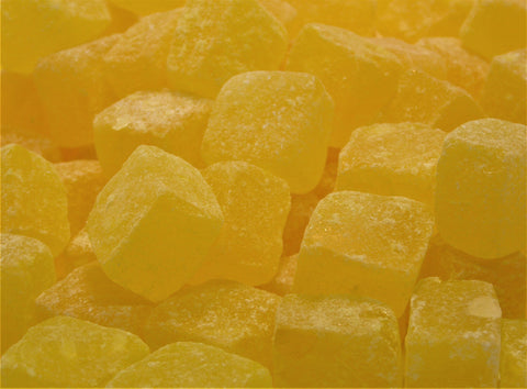 pineapple cubes boiled sweets