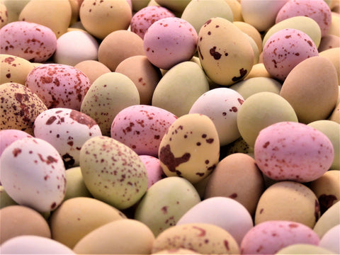 mini chocolate speckled eggs