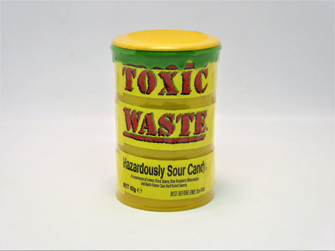 toxic waste yellow sour candy