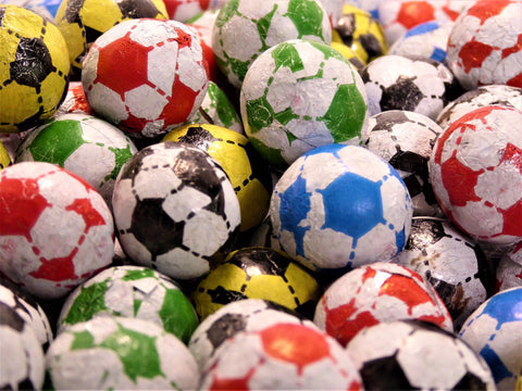 chocolate flavour footballs