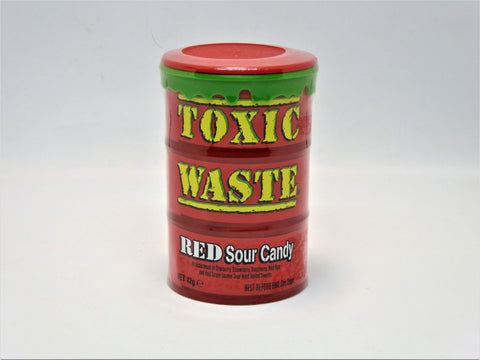 toxic waste red sour candy