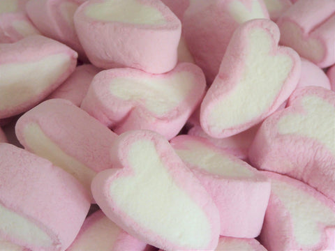 large heart mallows