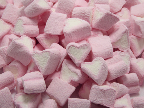 mini heart mallows