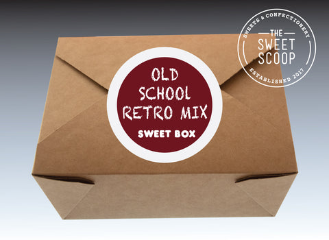 old school retro mix sweet box