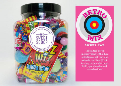 retro mix sweet jar