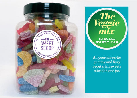 vegetarian mix sweet jar