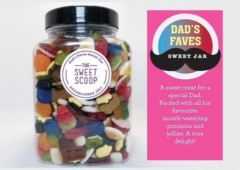 dad's faves sweet jar