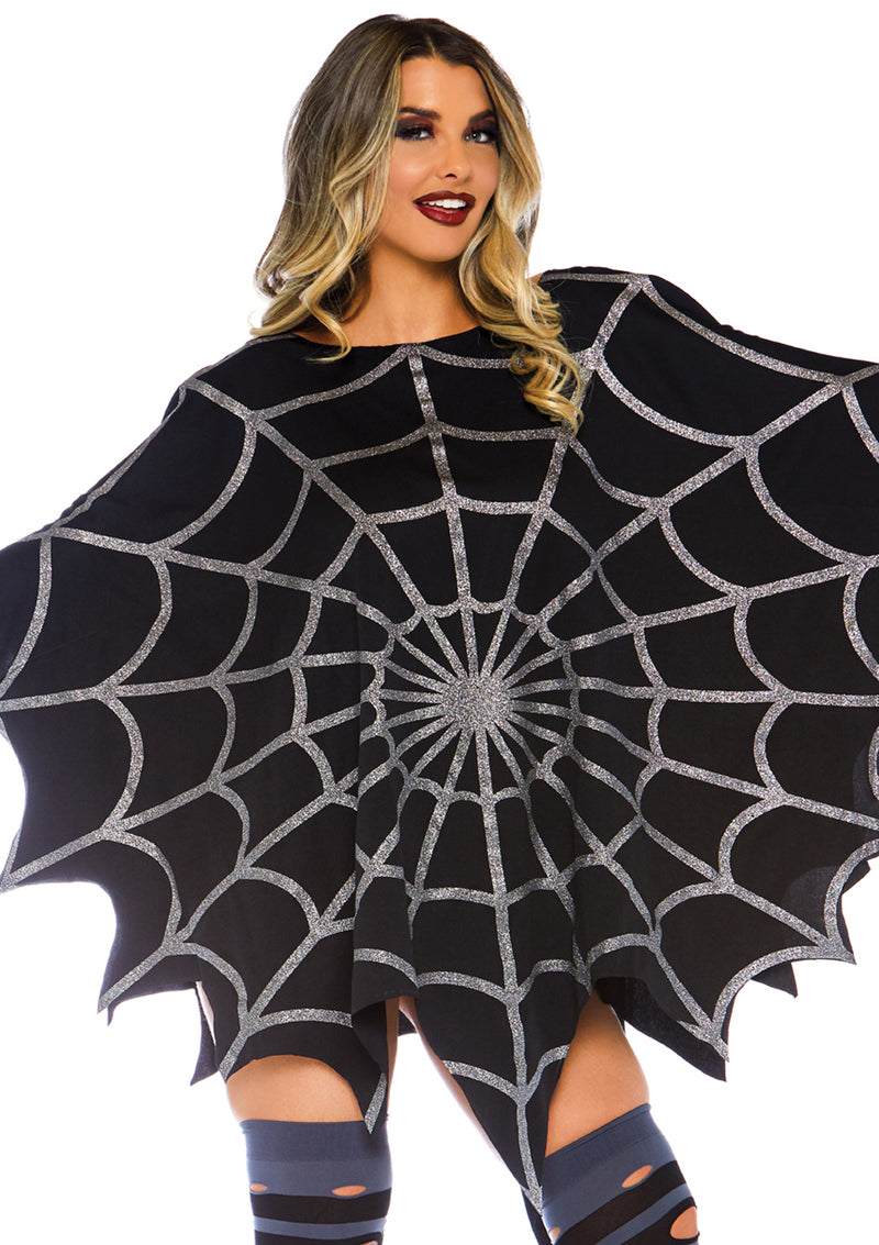 Glitter web poncho - Darkest Hour Apparel