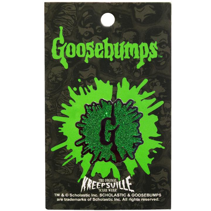 Goosebumps G Splat Glitter Enamel Pin - Darkest Hour