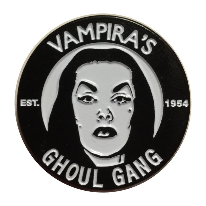 Official Licensed Vampira Ghoul Gang Enamel Pin - Darkest Hour Apparel