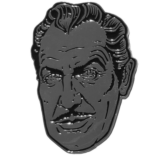 Vincent Price Customised Enamel Pin - XL - Darkest Hour
