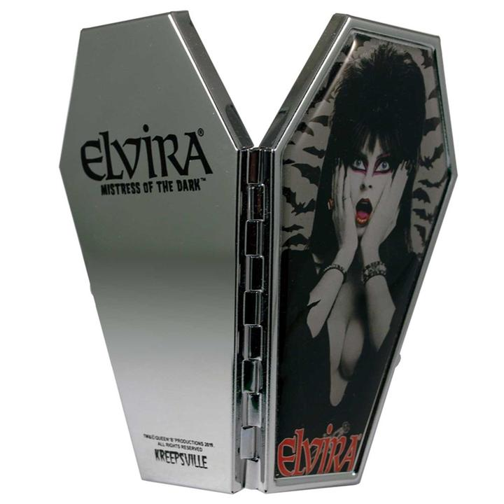 Elvira Coffin Mirror Compact - Darkest Hour