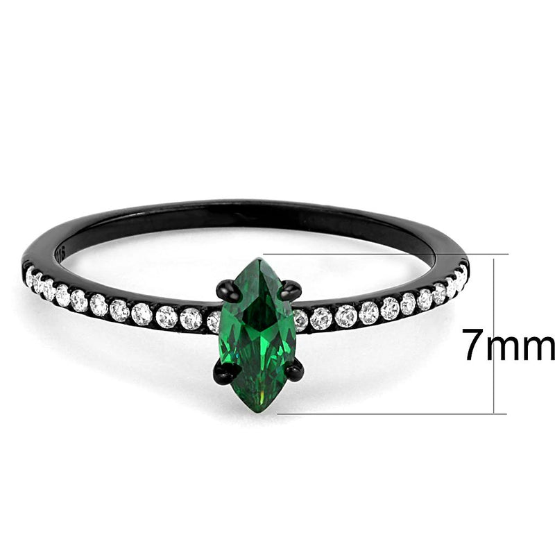 Women Stainless Steel Cubic Zirconia Rings DA033 - Darkest Hour Apparel