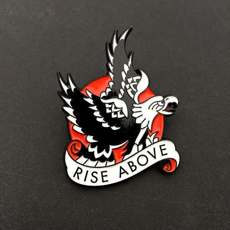 Rise Above Enamel Pin