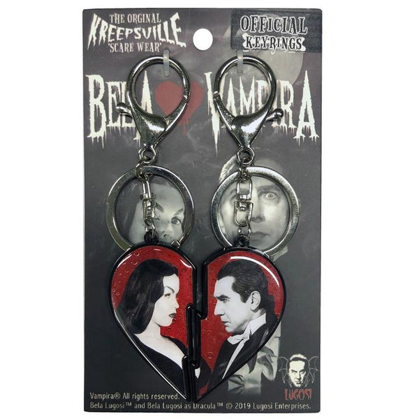 Vampira and Bela Lugosi Keychain - Darkest Hour