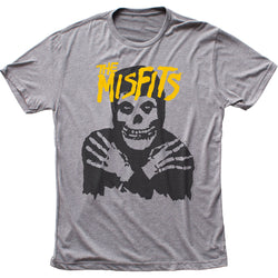 Misfits Classic Skull (Yellow logo) fitted tri-blend tee
