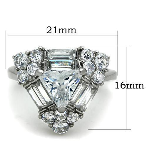 Women Stainless Steel Cubic Zirconia Rings