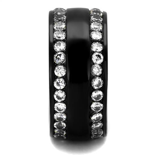 Women Stainless Steel Cubic Zirconia Rings TK2290