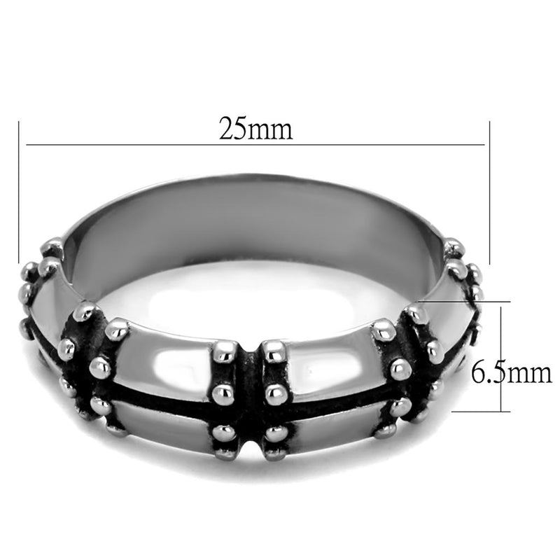 Stainless Steel Barred Ring - Darkest Hour Apparel