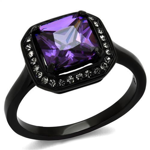 Women Stainless Steel Cubic Zirconia Ring - Darkest Hour Apparel