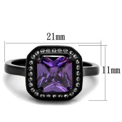 Women Stainless Steel Cubic Zirconia Ring