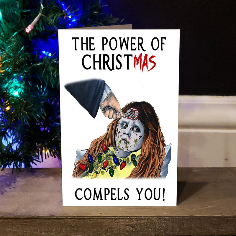 Exorcist Spooky Horror Christmas Greeting Card - Darkest Hour Apparel