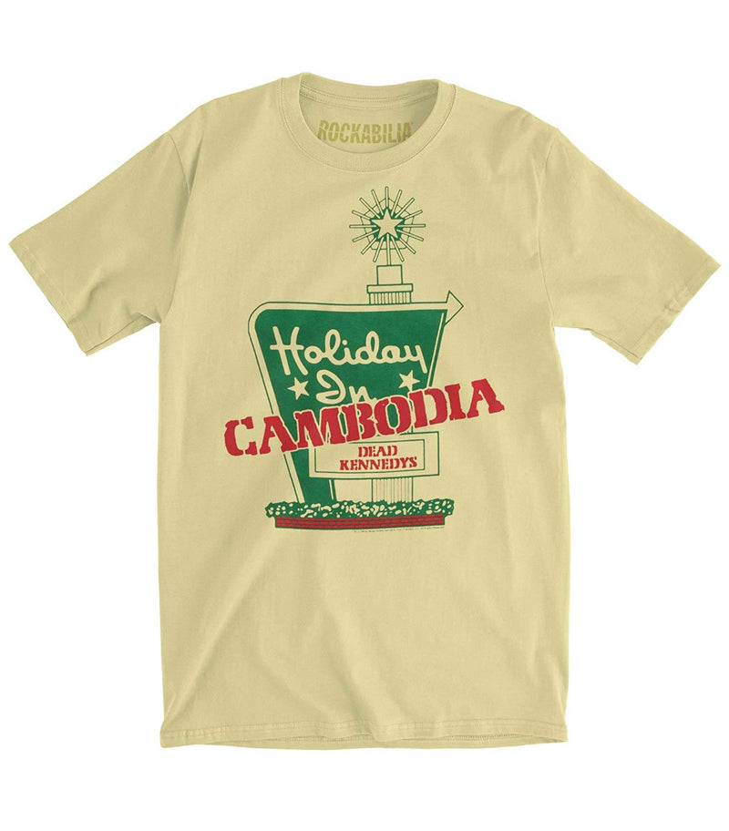 Dead Kennedys Men's Holiday in Cambodia Slim Fit T-Shirt Banana