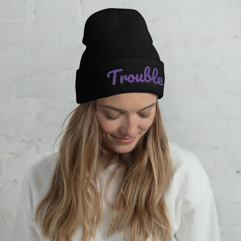 Trouble - Cuffed Beanie - Darkest Hour