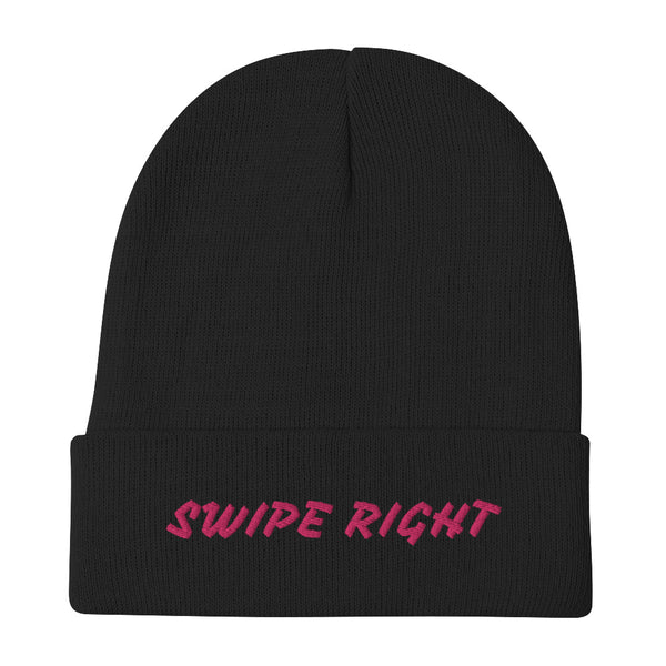 Swipe Right - Embroidered Beanie